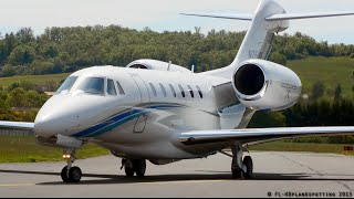 *MUST SEE* Cessna 750 Citation X N750GF incredible landing & face to face at Albi [LBI/LFCI] !
