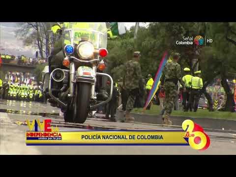 Desfile militar 20 de Julio Policia Nacional 2014 Colombia Completo HD