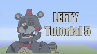 Minecraft Lefty Pixel Art Tutorial Part 5 FINAL (Five Nights at Freddy's Pizzeria Simulator)