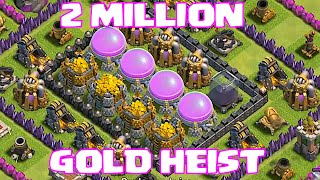 Clash Of Clans - Top 5 Raids!! (2 Million Gold Heist)