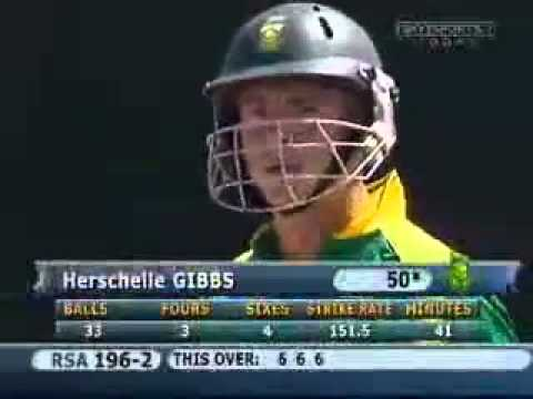 Herschelle Gibbs Six 6's In One Over video