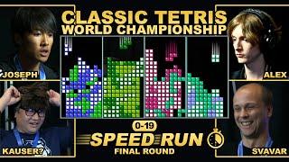 First to 19 Speedrun Final Round - TETRIS RACE!