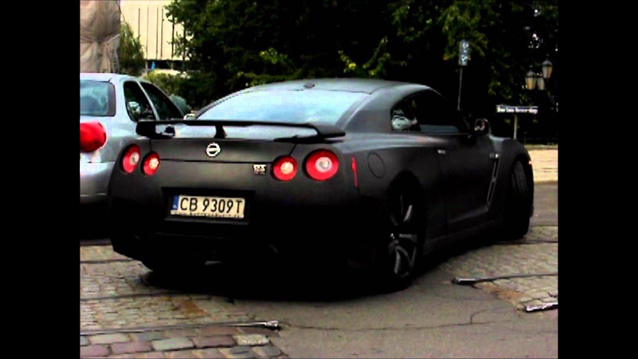 Nissan GTR R35 Black Matt Exhaust Custom Lovly SOUND - YouTube