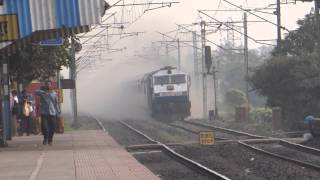 TRAIN EMERGES OUT OF DUST STORM, HOWRAH - NEW JALPAIGURI SHATABDI