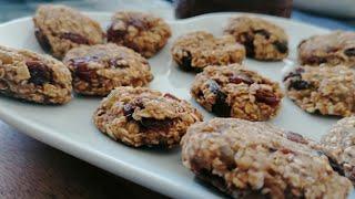 3 Ingredient Banana Oatmeal Cookies | Healthy Breakfast Cookies
