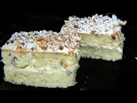Бисквитные пирожные. Бисквитное пирожное рецепт. Как сделать пирожное.Пирожное домашнее рецепт.