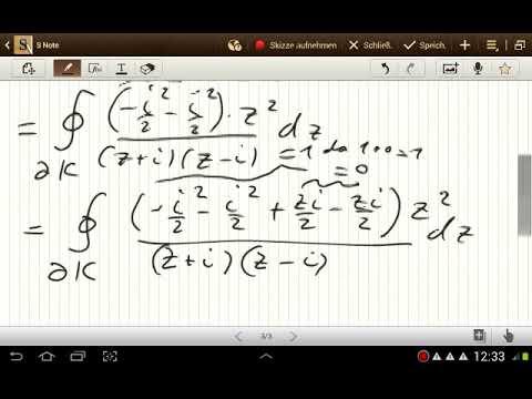 Beispiele für das Komplexe Kurvenintegral