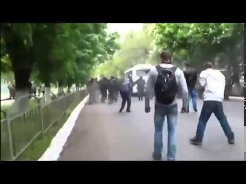Violence in Mariupol, Donetsk region of Ukraine, May 2014