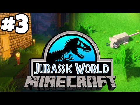 Jurassic World: Minecraft Dinosaurs | BUILDING HOME BASE (Playthrough Part 3)