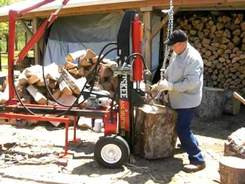 Huskee 27 Ton Modified Wood Splitter W/Overhead Lift and cradle