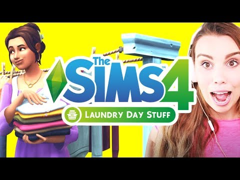 Laundry Gameplay Review! The Sims 4 Laundry Stuff Pack!