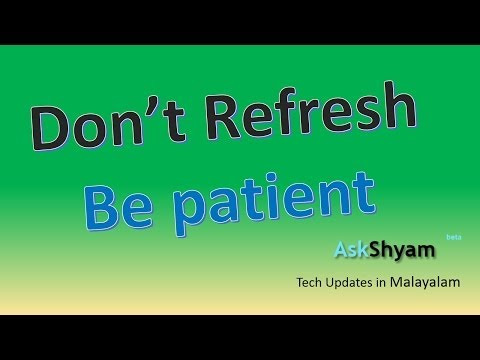 What Happens When You Click Refresh - Explained-tech Updates In Malayalam video