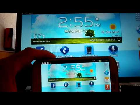 Como ver tu Samsung Galaxy S3 en una television HD usando un adaptador MHL