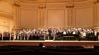 Indianapolis Youth Chorale and Mt. Eden Concert Choir sound check Ave Maria By John Conahan