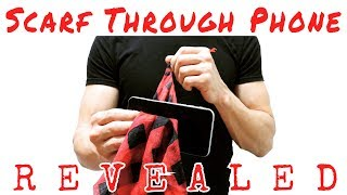 Awesome & easy scarf through phone trick REVEALED! - How to