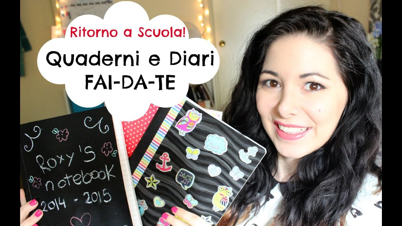 QUADERNI e DIARI FAI-DA-TE ! - YouTube