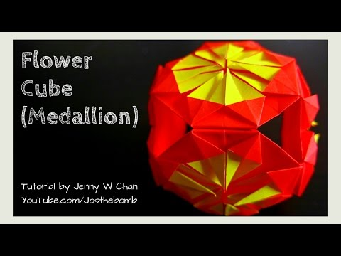 DIY How to Fold Origami Flower Medallion / Cube - Summer Crafts Tutorial (EASY)