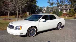 2004 Cadillac DeVille For Sale~NEW Vogue Chrome Rims~Cotillion White~ONE OWNER~ONLY 5000 MILES
