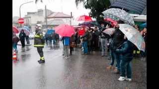 video Incoronamento dell'Immacolata posta sulla colonna. I pompieri con l'autoscala porgono il saluto alla Madonna e depongono la Corona.