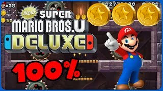 6-T Grinding Stone Tower ❤️ New Super Mario Bros. U Deluxe ❤️ 100% All Star Coins