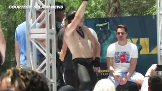 (VIDEO) Channing Tatum, Matt Bomer Dancing at LA Gay Pride Festival 2015 | Magic Mike XXL Promotions