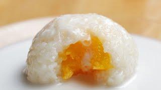 Mango-Stuffed Sticky Rice ball