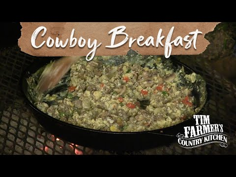 Cowboy Campfire Cooking Breakfast and