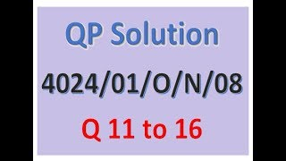 O-Level Math D QP Solution: 4024/01/ON/08  Q -11 to 16 (2 of 3)