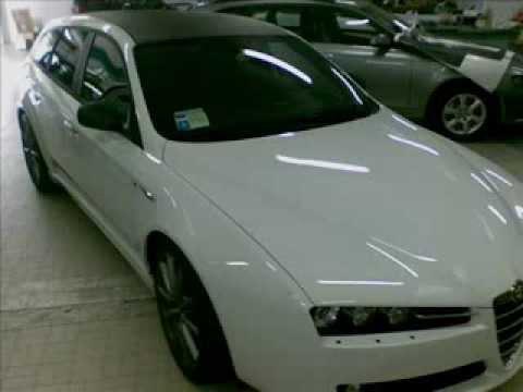NonSoloMusica Genova ALFA159 carwrapping tetto e specchi carbon look dinoc 3m