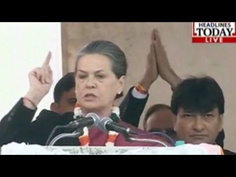 Sonia Gandhi adresses Delhi Poll rally