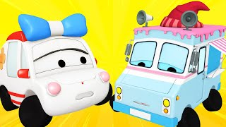 Tiny Town - Ice cream truck is feeling sick - Tiny Town: Street Vehicles Ambulance Police Car