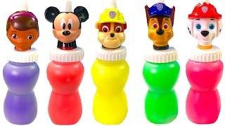 Best Learning Colors Video for Children -  Paw Patrol Mickey Mouse Slime Surprise Toys