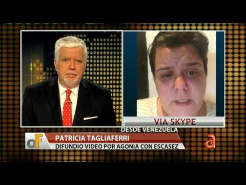 Entrevista con Patricia Tagliaferri venezolana que difundió video por escasez en el país