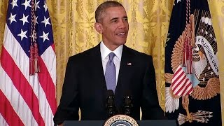 The President Speaks at the White House Conference on Aging