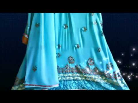 Designer Dresses - Blue & Brilliance  - Pakistani indian Fashion video