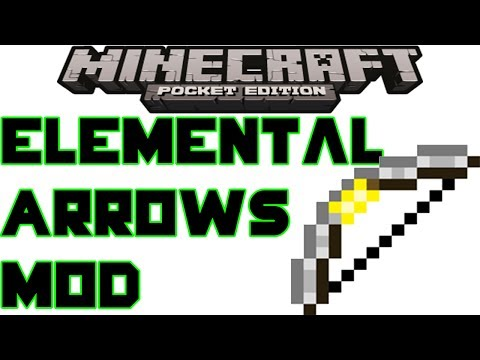 0.8.1 Elemental Arrows Mod 1.9 MCPE