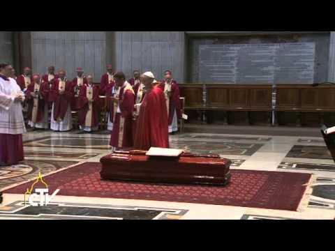 Papa Francisco en los funerales del Cardenal Francesco March
