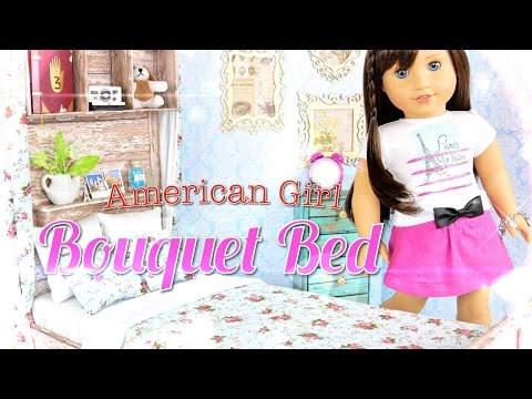 How to Make a Doll Bed:  American Girl Bouquet Bed - Doll Crafts