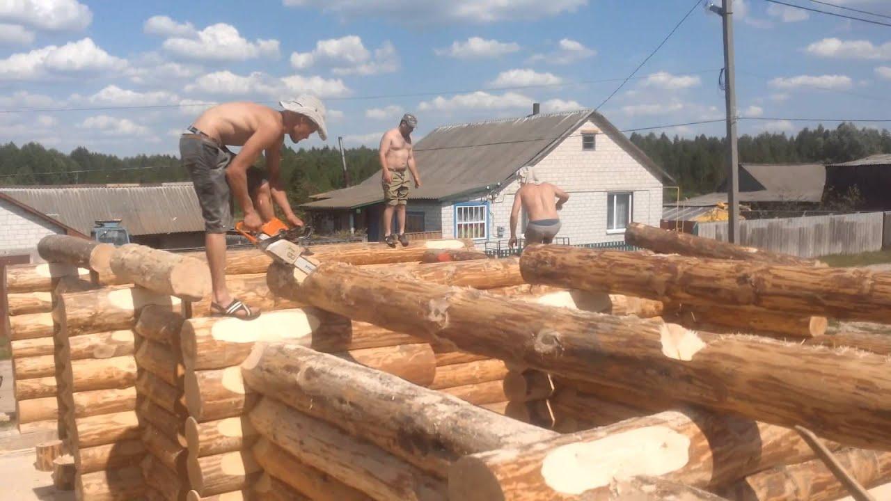 Как сделать деревянный сруб для дома 267