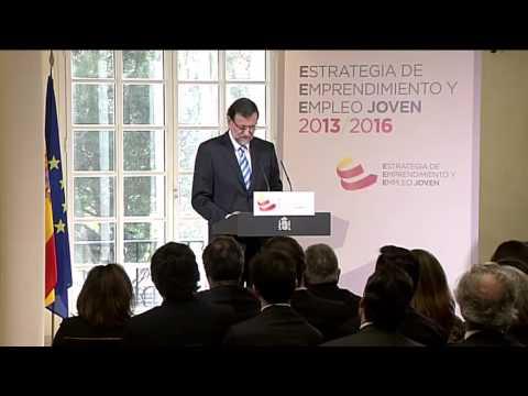 Mariano Rajoy en la presentación de la Estrategia de Emprendimiento y Empleo Joven 2013-2016