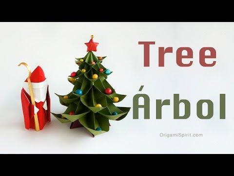 Origami Christmas Tree (tutorial video)