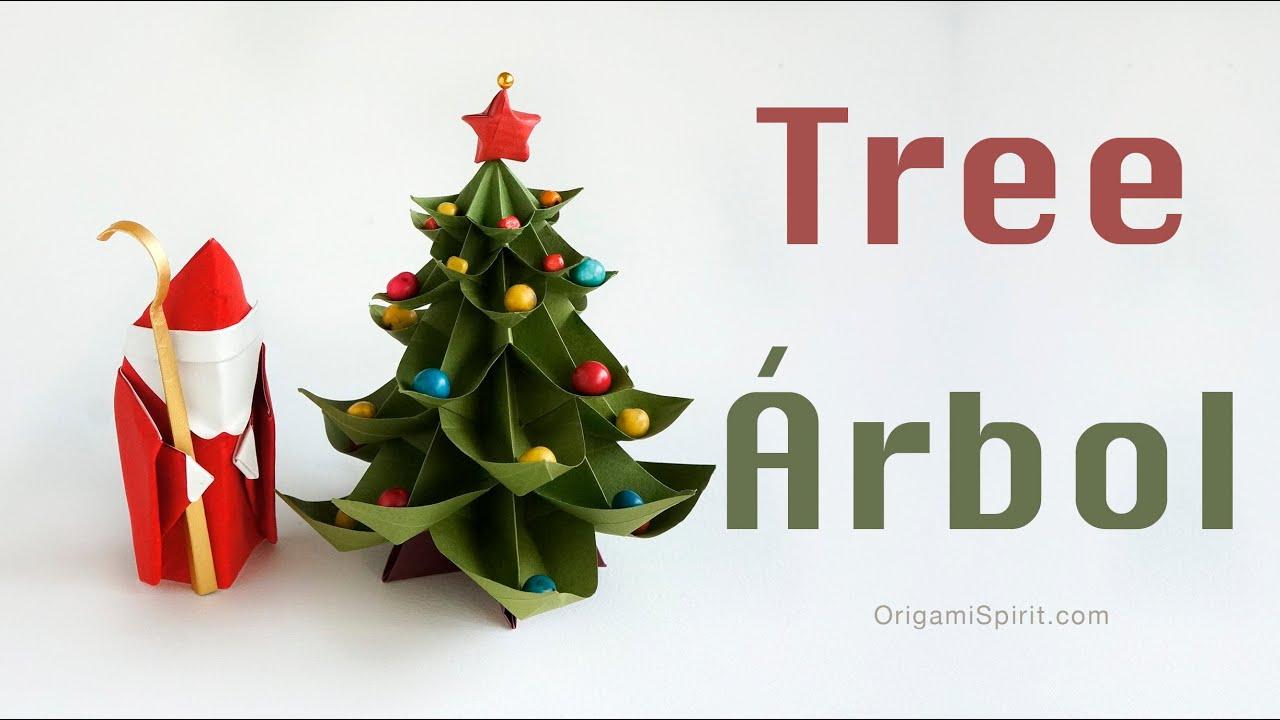 origami christmas tree 193rbol de navidad youtube