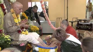 2011.10.22. Vyasa Puja part 1 Abhisheka HG Sankarshan Das Adhikari - Kaunas, Lithuania