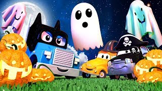 HALLOWEEN CARTOONS WITH TRUCKS ! Car City with Carl, Tom and friends 🔴 Live Scary Cartoons for kids