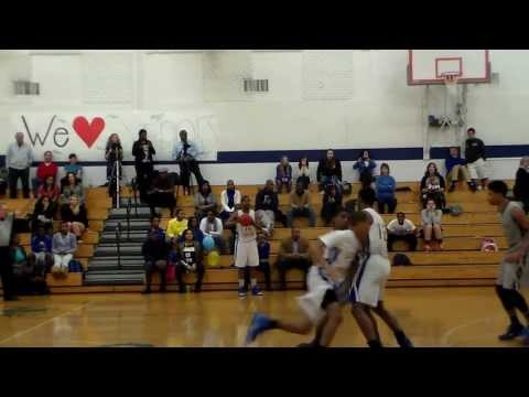 Southlake Christian Academy Andrew Howard Game Winning Dunk On Senior Night - 02/05/2014