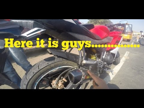 AKRAPOVIC EXHAUST FULL SYSTEM ON YAMAHA R15 2016 (MY NEW EXHAUST)