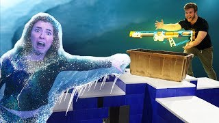 DON'T Get Trapped in the Blizzard! NERF Board Game Challenge