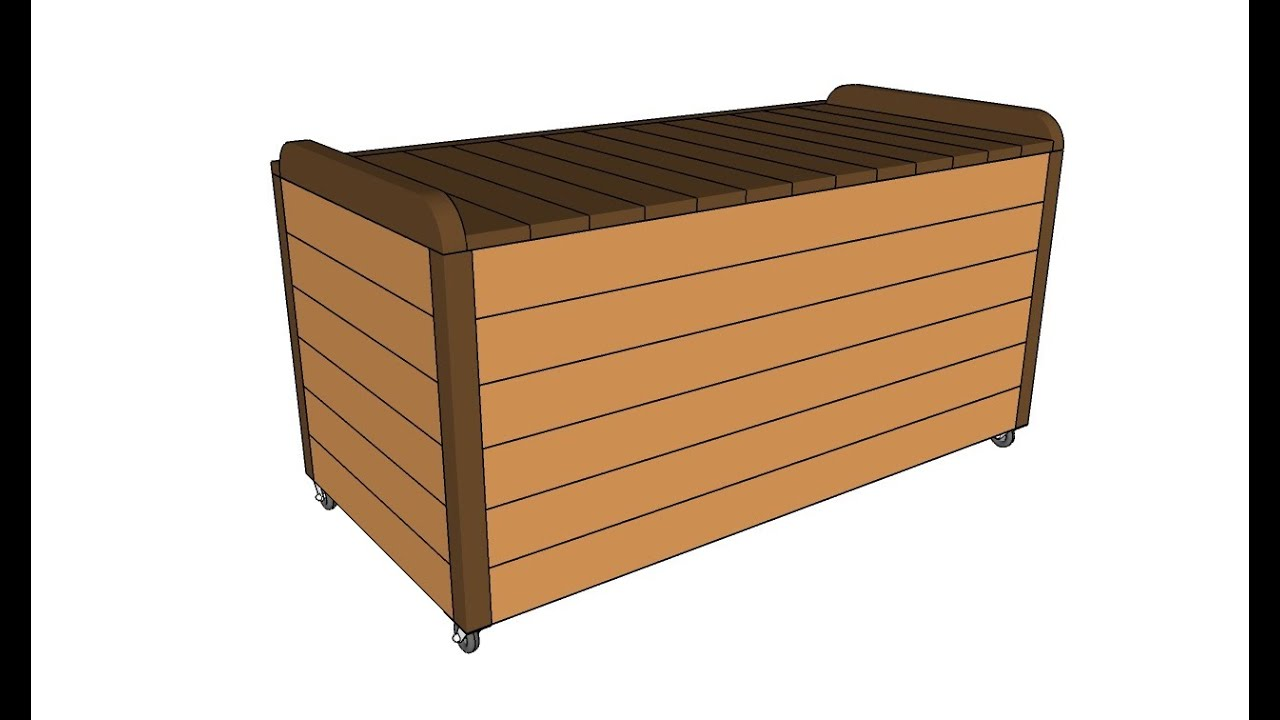 How to Make Toy Box Out of Pallets How to Build a Toy Box