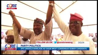 OGUN APC UNVEILS AKINLADE AS OGUN WEST CONSENSUS GUBER CANDIDATE...watch & share...!