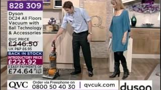 Dyson DC24 All Floors Upright Vacuum Cleaner Demonstration QVC UK